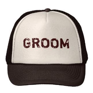 Brown beige rustic theme Groom hat