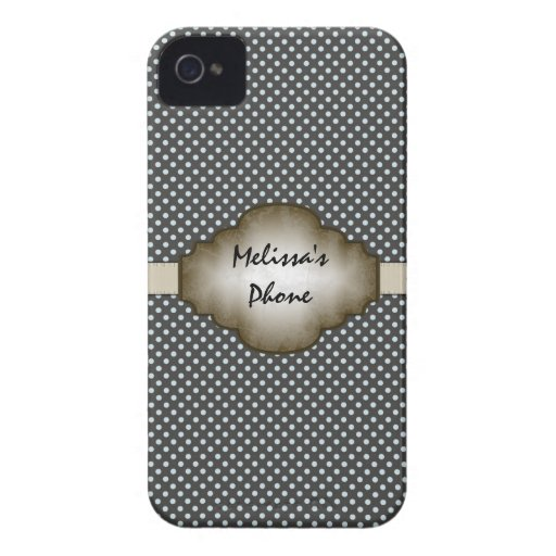 Brown & Beige Vintage Dots Blackberry Phone Case Blackberry Bold Cases
