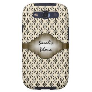 Brown Beige Vintage Pattern Samsung Galaxy S Case Samsung Galaxy S3 Covers