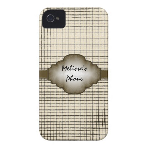 Brown Beige Vintage Plaid Blackberry Phone Case Blackberry Bold Cases