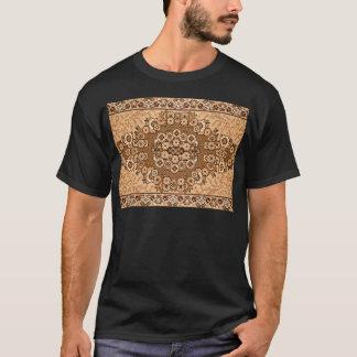 brown beige white oriental rug pattern vintage T-Shirt