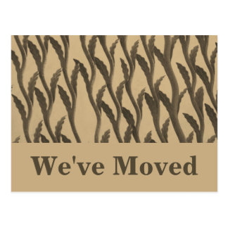 brown biege branches We ve Moved Postcards