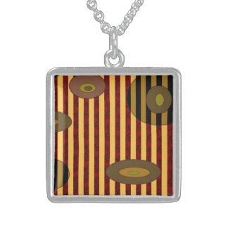 Brown biege circles stripes custom jewelry