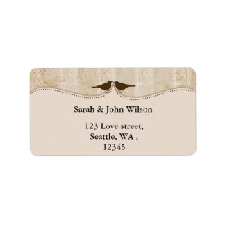 brown bird cage, love birds return address labels