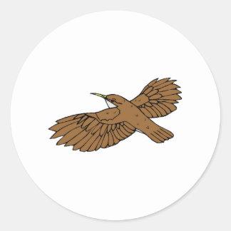 Brown Bird Flying Sticker