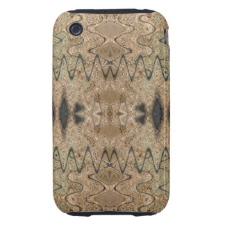 Brown Black abstract iPhone 3 Tough Cases