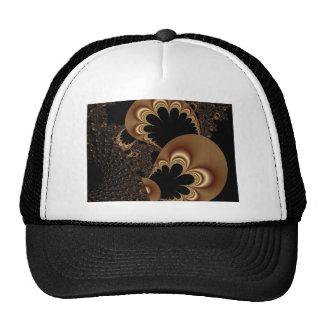 Brown Black Balloon Flower Petal Fractal Art Gifts Mesh Hat