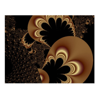 Brown Black Balloon Flower Petal Fractal Art Gifts Postcard