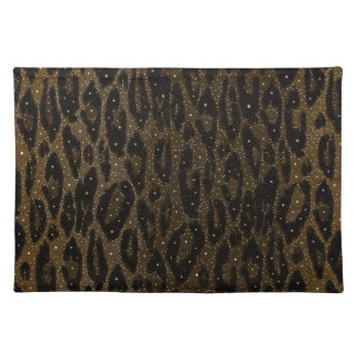 Brown Black Cheetah Stars Placemat