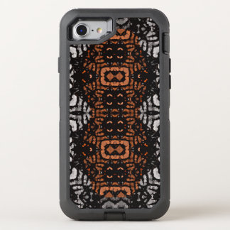 Brown Black Grey Abstract Pattern OtterBox Defender iPhone 8/7 Case