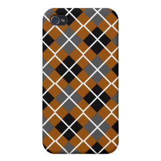 Brown, Black, Grey & White Argyle iPhone 4 Case