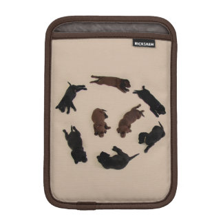Brown Black Labrador Retrievers Dogs iPad Sleeve