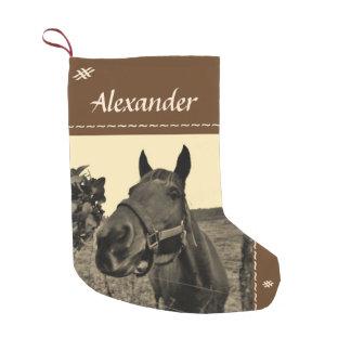Brown Black sepia tone Christmas horse