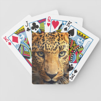 Brown Black Spotted Leopard Bicycle Playing Cards