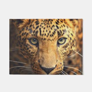 Brown Black Spotted Leopard Doormat