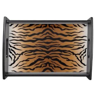 Brown Black Tiger Serving Tray