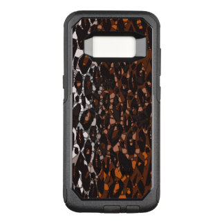 Brown Black White Cheetah Abstract OtterBox Commuter Samsung Galaxy S8 Case