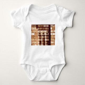 brown block window baby bodysuit