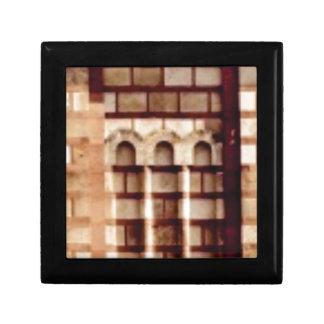 brown block window gift box