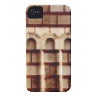 brown block window iPhone 4 Case-Mate case
