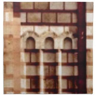 brown block window napkin