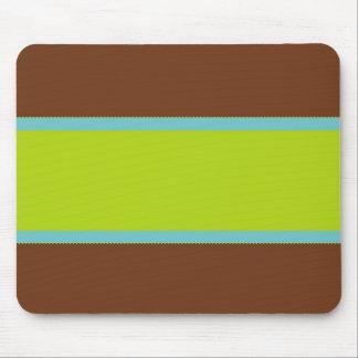 Brown, Blue & Lime Green Design 2 Mousepad