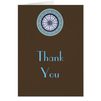 Brown & Blue Modern Thank You Note Greeting Card