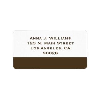 brown border address label
