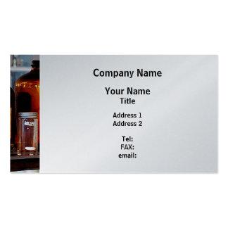 Brown Bottles - Platinum Finish Business Card Templates