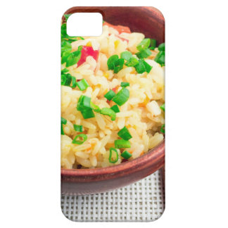 Brown bowl with a portion of cooked rice case for the iPhone 5