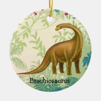 Brown Brachiosaurus Dinosaur Ornament