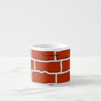 Brown brick wall background espresso mug