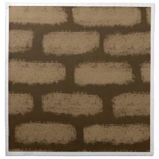 Brown Bricks Pattern Napkin