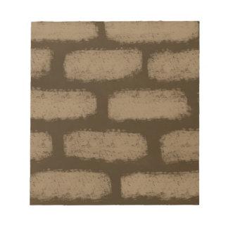 Brown Bricks Pattern Notepad