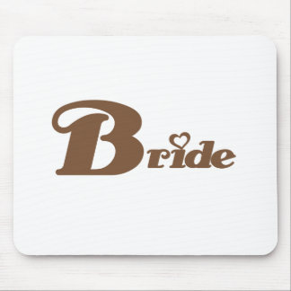 Brown Bride Mouse Pad
