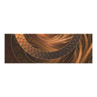 Brown, Bronze, Wicker, and Rattan Fractal Circles Photo Print