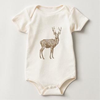 Brown buck hunting baby bodysuit