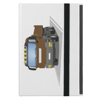 brown building sites truck case for iPad mini
