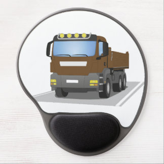 brown building sites truck gel mouse pad