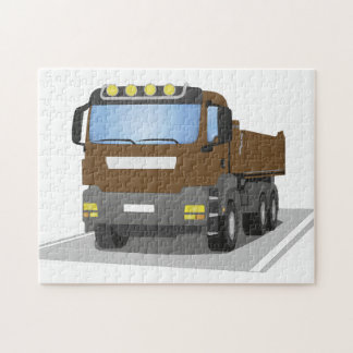 brown building sites truck jigsaw puzzle