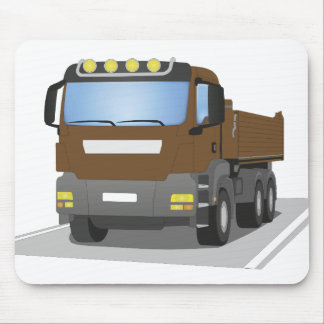 brown building sites truck mouse pad