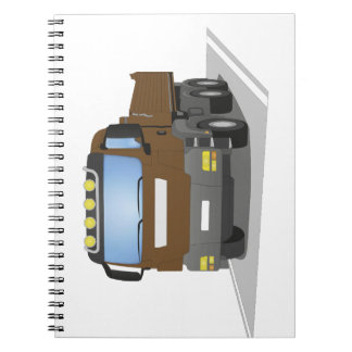brown building sites truck spiral notebook