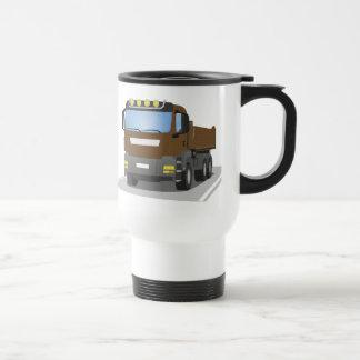 brown building sites truck travel mug
