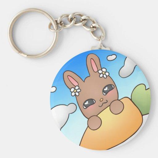 Brown Bunny Keychains