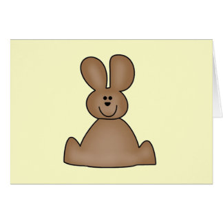 Brown Bunny T-shirts and Gifts Greeting Card