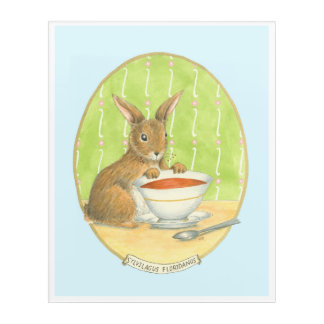 Brown Bunny with Cup of Coffee Acrylic Print