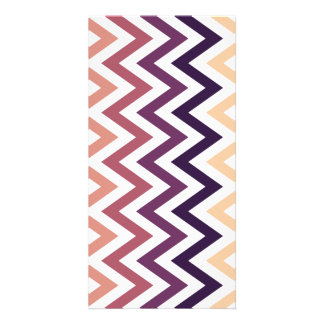 Brown Burgundy Chevron Geometric Designs Color Custom Photo Card