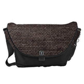 Brown Burlap Texture Courier Bag