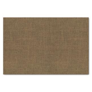 Brown Burlap Texture Tissue Paper