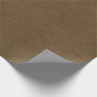 Brown Burlap Texture Wrapping Paper